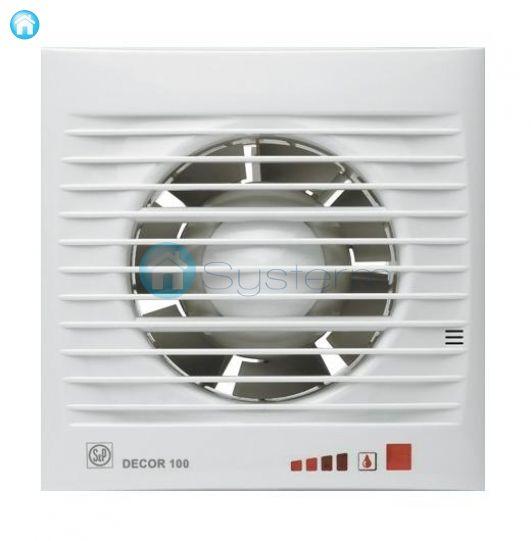 Bathroom Axial Fan DECOR 100 CHZ VISUAL Hygrostat