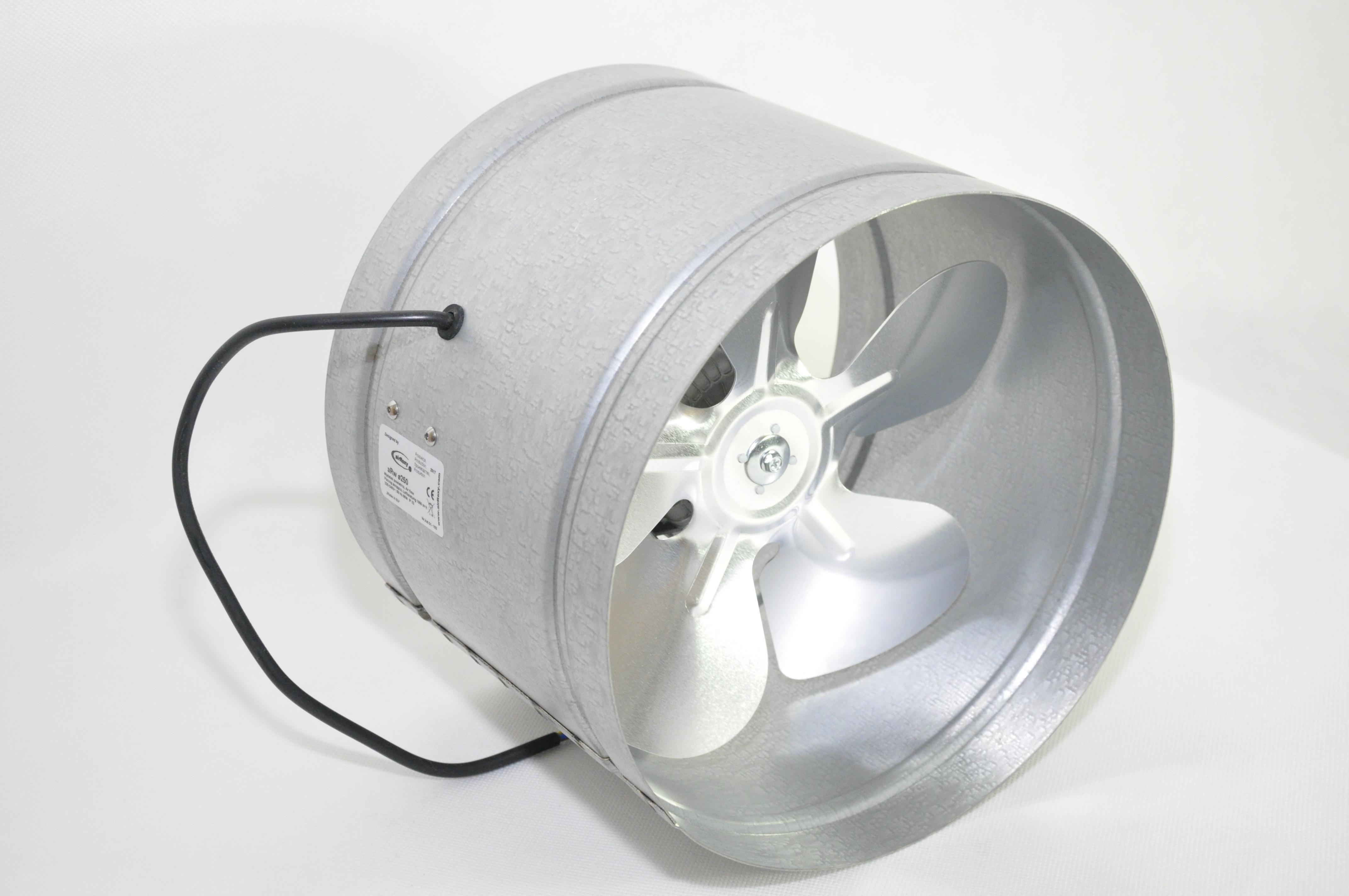 TURBO Rohrventilator Rohrlüfter Axial 100 125 150 160 200 250 315 355 Radial
