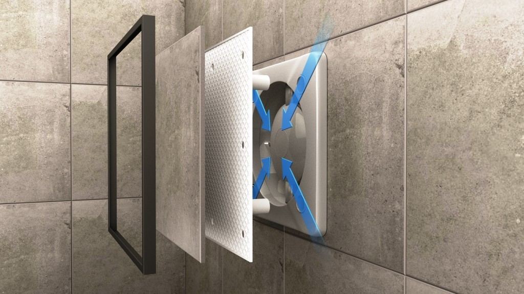 neu sehr leise ventilator badl fter 100 mm 125 mm f r fliesen eu marke ebay. Black Bedroom Furniture Sets. Home Design Ideas